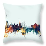 Halmstad Sweden Skyline Throw Pillow