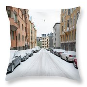 Helsinki At November Throw Pillow