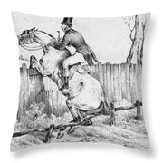 Horserider, C1840 Throw Pillow