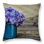 Hortensia Flowers Throw Pillow