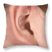 Human Ear Throw Pillow