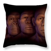 Human Evolution Throw Pillow