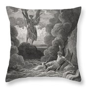 Illustration By Gustave Dore 1832-1883 Throw Pillow