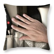 Incoming Call Cellphone Next To Bed Throw Pillow