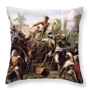 India: Sepoy Mutiny, 1857 Throw Pillow