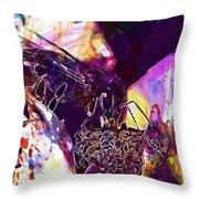 Insect Plant Nature  Throw Pillow
