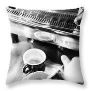Italian Espresso Expresso Coffee Making Preparation With Machine Throw Pillow