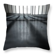 Jail Cell Shadows Throw Pillow