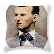 Jesse James, 1847-1882 Throw Pillow