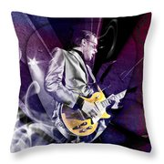 Joe Bonamassa Blues Guitarist Art Throw Pillow