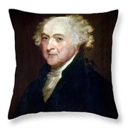 John Adams (1735-1826) Throw Pillow by Granger