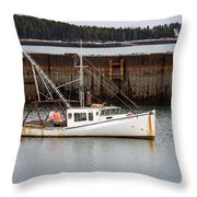 Jonesport, Maine  Throw Pillow