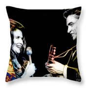 June Carter And Johnny Cash Collection Throw Pillow