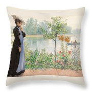 Karin By The Shore Throw Pillow