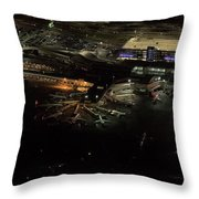 Laguardia Airport Aerial View Throw Pillow