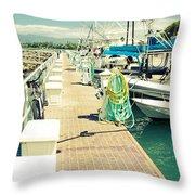 Lahaina Harbor Maui Hawaii Throw Pillow