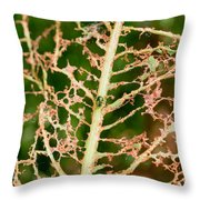 Leaf Eaten By Insects Throw Pillow