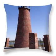 Lighthouse On Lake Toho At Kissimmee In Florida Throw Pillow