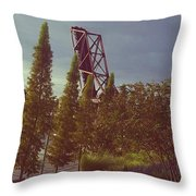 4 Liner Throw Pillow
