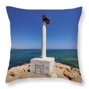 Liopetri Beach Throw Pillow