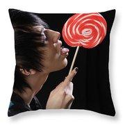 Lollypop Throw Pillow
