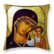 Madonna Religious Art Throw Pillow