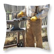 Male Farrier. Throw Pillow