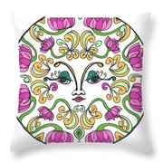 Lotus Princess Throw Pillow