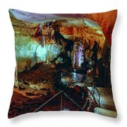 Marble Cave Crimea Throw Pillow