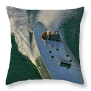 Mercury Race Boat Throw Pillow
