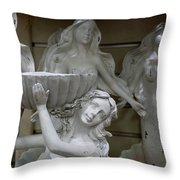 4 Mermaids Throw Pillow