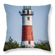 Middle Island Lighthouse Throw Pillow
