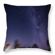 Milky Way Over The Ruins Of Strata Florida Abbey, Wales Uk Throw Pillow