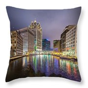 Milwaukee Wisconcin City And Street Scenes Throw Pillow