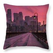 Minneapolis Skyline Throw Pillow