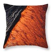 Molten Pahoehoe Lava Throw Pillow