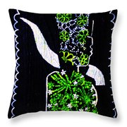 Murle Bride -  South Sudan Throw Pillow