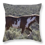 Mustang Stallion Throw Pillow