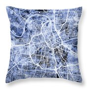 Nashville Tennessee City Map Throw Pillow