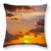 Nebraska Hp Supercell Sunset Throw Pillow