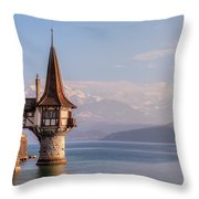 Oberhofen - Switzerland Throw Pillow