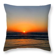 Ocean Sunrise Sunset Throw Pillow