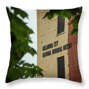 Okc Memorial Xv Throw Pillow