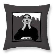 Opera Singer Maria Callas No Date-2010 Throw Pillow