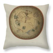 Pa. German Plate Throw Pillow