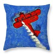 Painting Of Wingwalker Danielle Throw Pillow