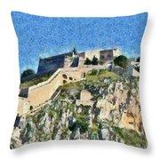 Palamidi Castle Throw Pillow