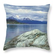 Panoramic View Of Ushuaia, Tierra Del Throw Pillow