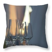 Party Setting With Bokeh Background Throw Pillow
