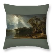 Passing Storm Over The Sierra Nevadas Throw Pillow